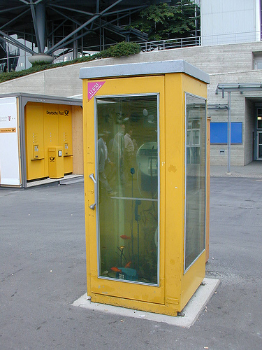 phone box aquarium germany
