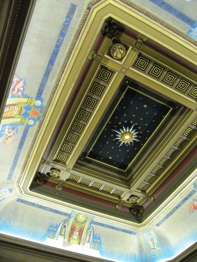 ceiling of freemason hall london