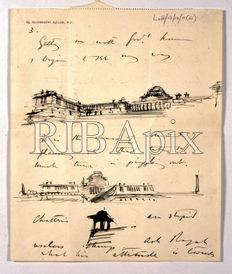 lutyens sketch of the viceroy house new dehli